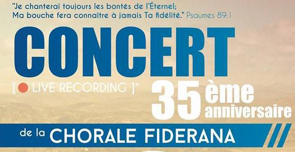 Concert de la Chorale Fiderana -  3 octobre 2015 à 19h30 à Massy (91)
