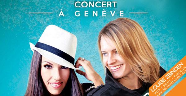 Concert à Genève avec Beckah Shae et Louise Zbinden - 9 octobre 2015 à Genève